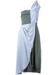 асимметричное платье в полоску J.W.Anderson