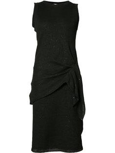 платье с драпировкой на талии Brunello Cucinelli