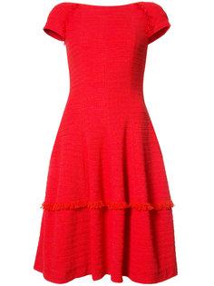 платье с бахромой Talbot Runhof