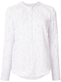 кружевная блузка без воротника Rebecca Taylor