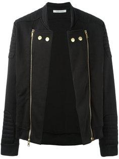 байкерская куртка с двойной молнией Pierre Balmain