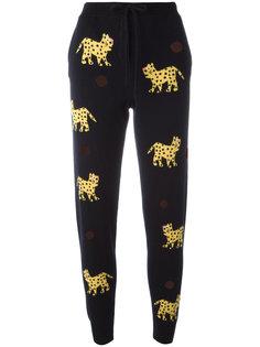 кашемировые спортивные брюки с принтом леопардов Chinti And Parker