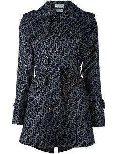 пальто-плащ с логотипом Christian Dior Vintage