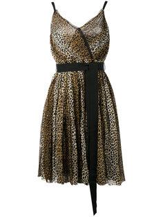 платье с леопардовым принтом Dolce & Gabbana Vintage
