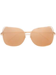 солнцезащитные очки в объемной оправе Linda Farrow