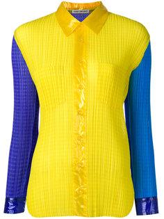 плиссированная рубашка в стиле колор блок Issey Miyake Vintage