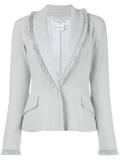 пиджак с отделкой из бахромы Christian Dior Vintage