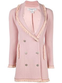 пальто с отделкой из бахромы Christian Dior Vintage