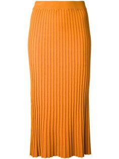 трикотажная плиссированная юбка Le Ciel Bleu