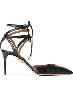 туфли с ремешками вокруг щиколотки Aquazzura