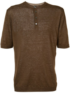 футболка с пуговицами Eleventy