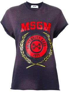 футболка с принтом MSGM  MSGM