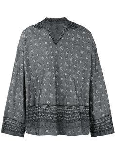 рубашка с вышивкой Sacai