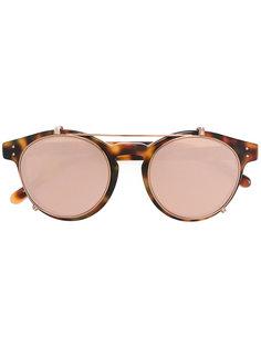 круглые солнцезащитные очки в черепаховой оправе Linda Farrow