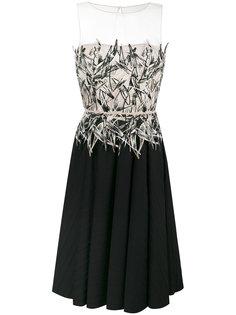 расклешенное платье с вышитым топом Blumarine