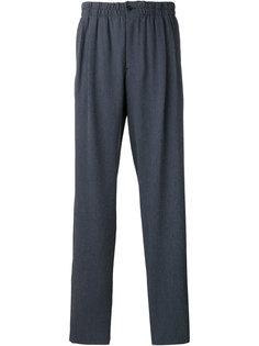 полосатые брюки с заниженным шаговым швом Giorgio Armani