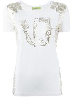 футболка с принтом-логотипом Versace Jeans
