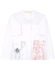 рубашка с принтами-зарисовками Ports 1961