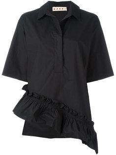 рубашка-поло с оборчатым подолом Marni