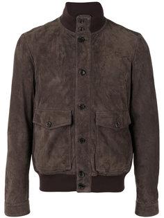 кожаная куртка с высоким воротом Tods Tod`S