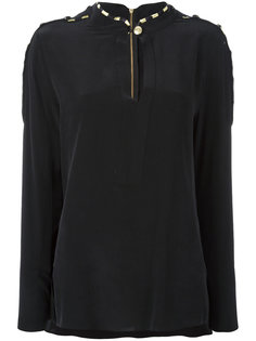 блузка с воротником-стойкой Pierre Balmain
