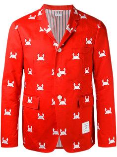 пиджак с вышивкой крабов Thom Browne