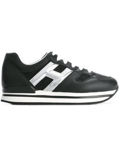 кроссовки с логотипом металлик Hogan