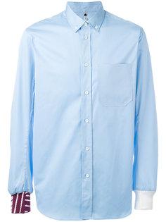 рубашка с контрастными деталями Oamc