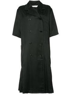 двубортное пальто с короткими рукавами Victoria Beckham