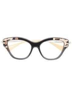 "очки в оправе ""кошачий глаз"" Miu Miu Eyewear"