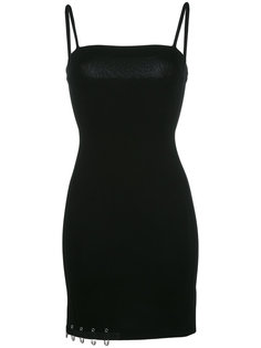 платье с отделкой булавками Versus