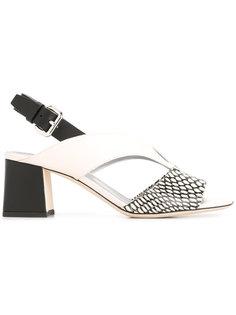 босоножки на массивном каблуке Pollini