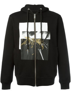 squares print zipped hoody Les Hommes