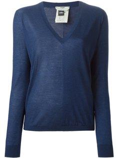 свитер с сетчатой панелью Fendi