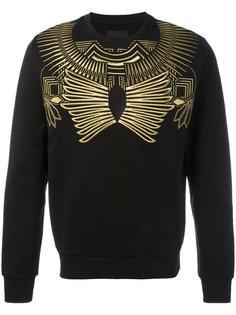 gold-tone geometric print sweatshirt Les Hommes