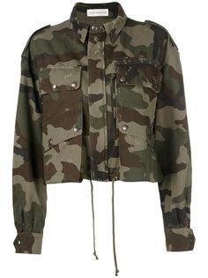 укороченная куртка с камуфляжным принтом Faith Connexion