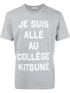 футболка je suis allée  Maison Kitsuné