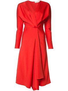 расклешенное платье с V-образным вырезом Victoria Beckham