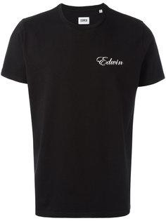 футболка с принтом-логотипом на груди Edwin