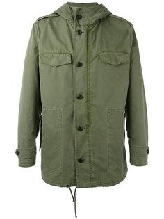 куртка с капюшоном и принтом единорога Palm Angels