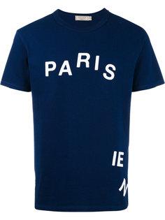 футболка с принтом parisien  Maison Kitsuné
