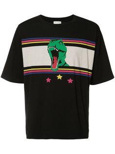 футболка с принтом динозавра Saint Laurent