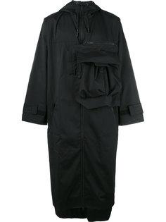 асимметричное пальто свободного кроя Y-3