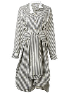 полосатое платье-рубашка Loewe