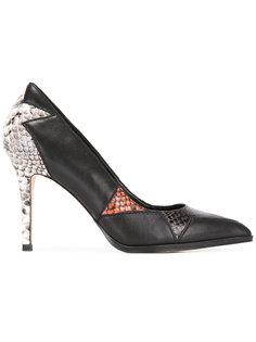 туфли с панелями под змеиную кожу Diesel