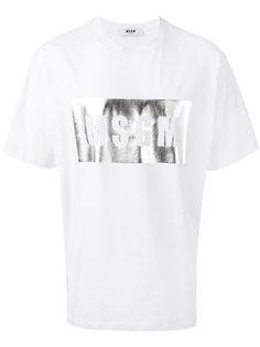 футболка с принтом-логотипом  MSGM