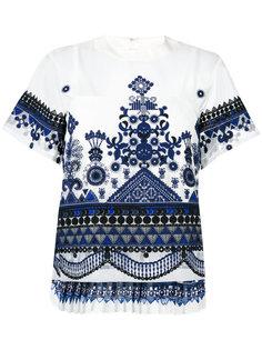 прозрачная блузка с вышивкой Sacai