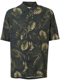 рубашка с лиственным принтом Vince