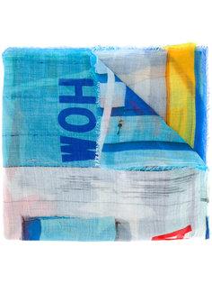 шарф с комбинированным принтом Faliero Sarti