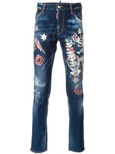 джинсы Cool Guy с нашивками Dsquared2